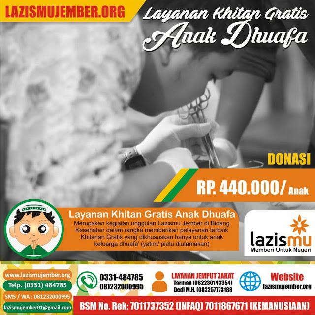 Paket Donasi Layanan Khitan Sewaktu-waktu untuk Anak Yatim Dhuafa