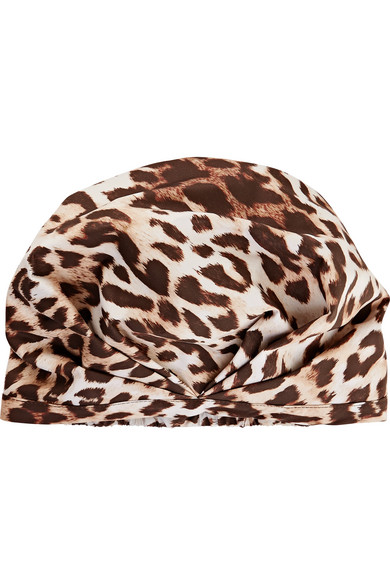 shhhowercap the minx leopard print shower cap