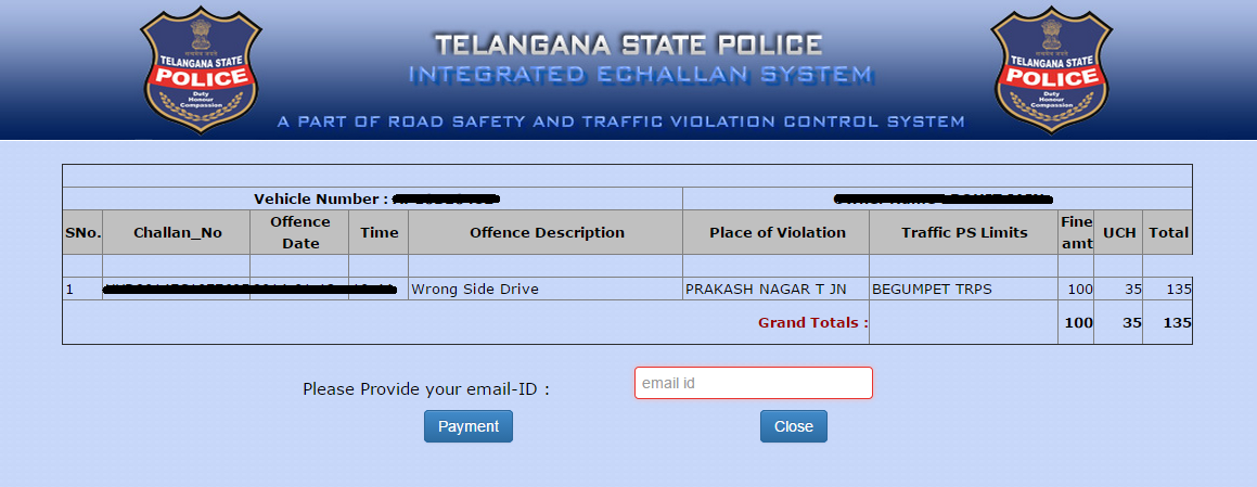 eChallan Transaction