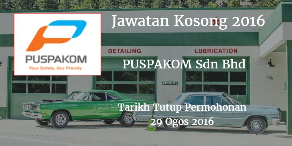 Jawatan Kosong PUSPAKOM Sdn Bhd 29 Ogos 2016