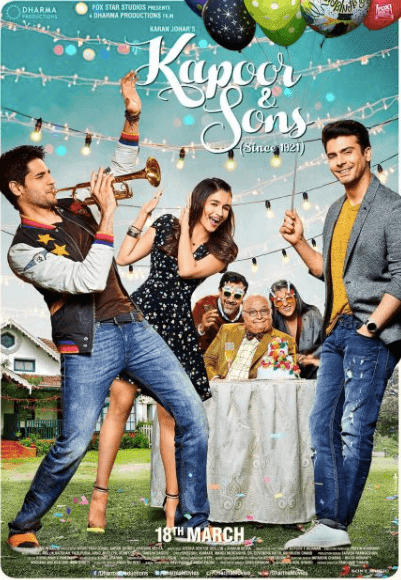 Kapoor & Sons Official Trailer 2016