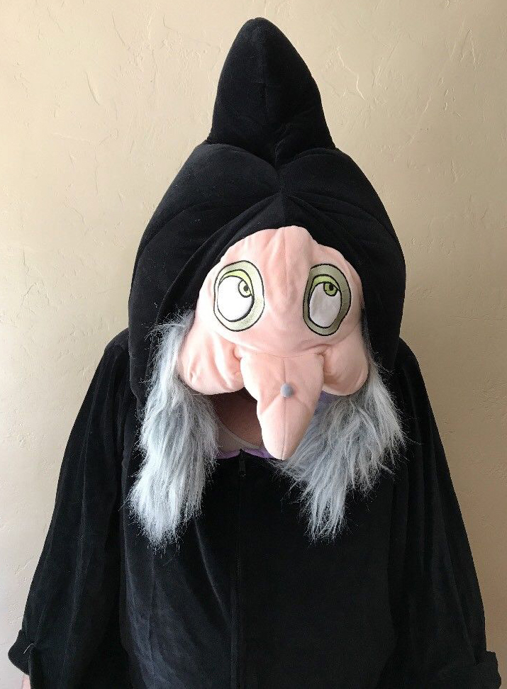 this old witch halloween costume was sold through the disney catalog probably dates from the 1990s or early 2000s onepiece head robe and hunchback