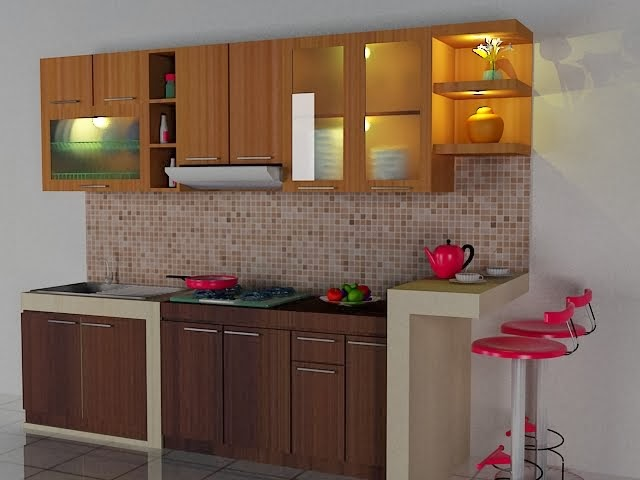 Gambar dapur minimalis for Aksesoris kitchen set murah