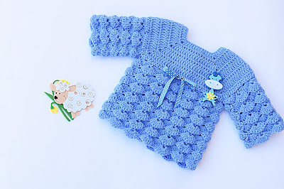 1 - Imagen chambrita de abanicos en relieve a crochet. Majovel crochet
