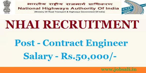 Govt Jobs in Karnataka, Jobs in Bangalore, NHAI Contract Jobs