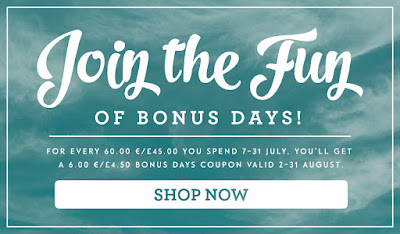 Get your Bonus Voucher from Stampin' Up! UK when you shop here before the end of July 2016