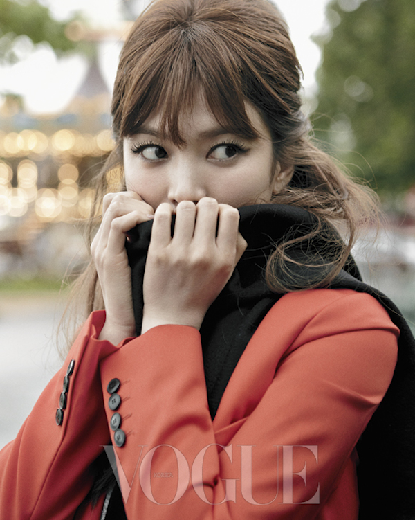Song Hye Kyo in Paris for Vogue Korea 2014