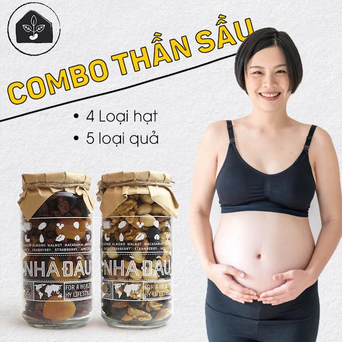 Chế độ dinh dưỡng Bà Bầu giảm cân ăn vào Con