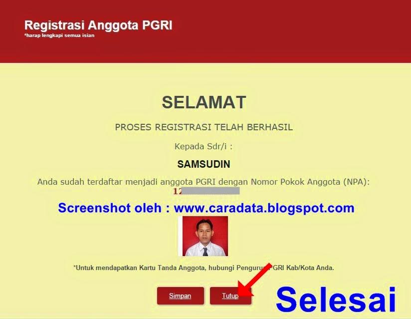 Cara Mudah Registrasi Online Anggota PGRI  INFORMASI PENDIDIKAN