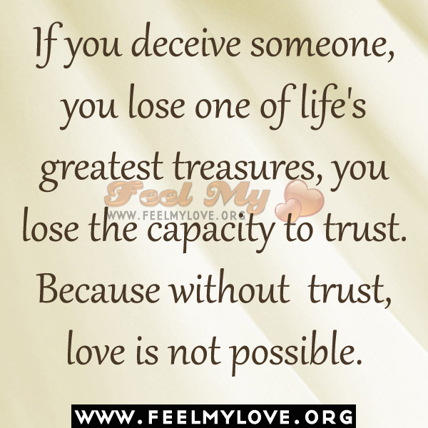deceiving others and being deceived in a relationship