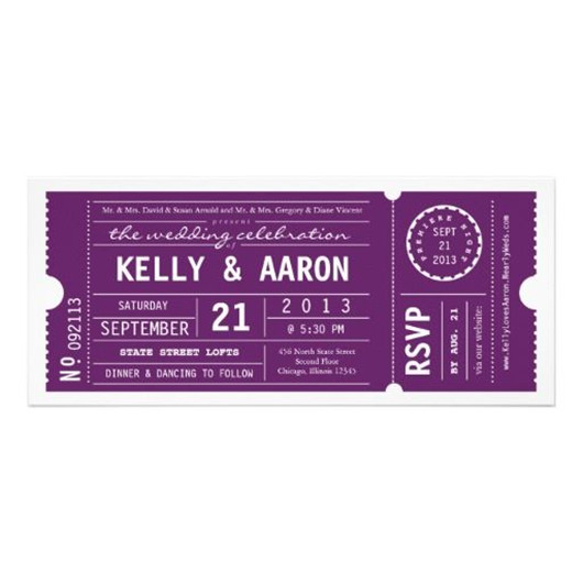 purple wedding inspiration invitations