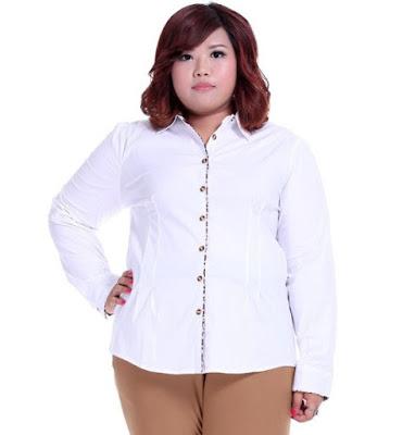 Model Pakaian Kemeja Wanita Gemuk Terbaru