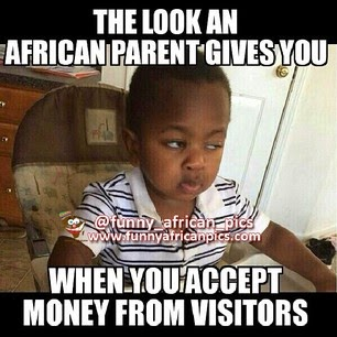 Parents reactions when you collect money from visitors