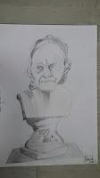 Voltaire bust statue - Sketch - Omer Toledano