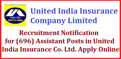 United India Insurance Co. Ltd.- Recruitment Notification for (696) Assistant Posts (provisional) United India Insurance Co. Ltd. is a leading Public sector General insurance company wholly owned by Governmentof India with a gross premium of more than Rs.16,000 Crores. A rapidly growing company with more than 2100 offices, highest network in the non life insurance industry throughout the country. Company proposes to recruit young and dynamic candidates for its Offices all over India. vacancy posts in UIICL 696 Vacancy posts in United India Insurance co ltd jobs in UIICI 696 Jobs in United Inida Insurance Company Limited Vacancy posts in United India Insurance Company ltd  united-india-insurance-co-ltd-recruitment-notification-for-696-assistant-posts