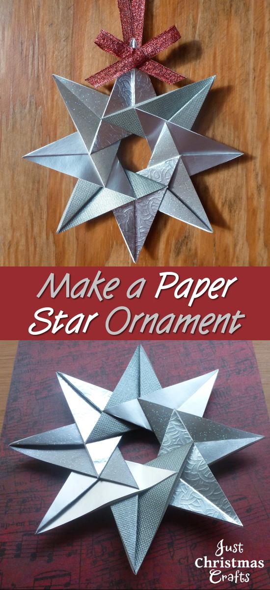 paper craft tea bag star instructions tutorial craft