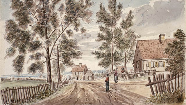 Charlesbourg village about 1830