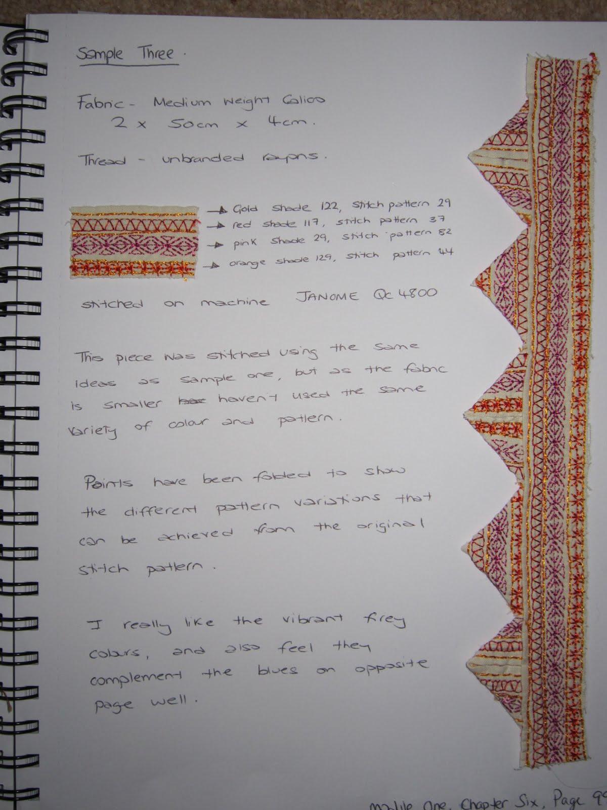 writing a six page paper stitch