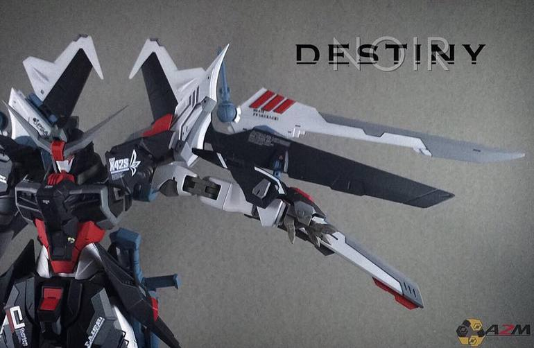 Custom Build: MG 1/100 Destiny Noir Gundam