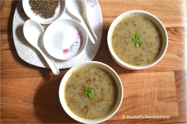BANANA (PLANTAIN)STEM SOUP/VAAZHAI THANDU SOUP