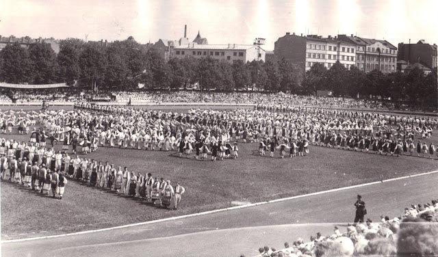 "1960 год. Рига. Стадион ""Динамо"". Праздник песни и танца"