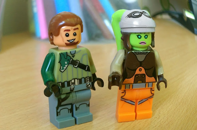 Jedi Kanan Jarrus and Hera Syndulla Starwars Rebels lego art