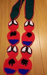 http://www.ravelry.com/patterns/library/spiderman-scarf-2