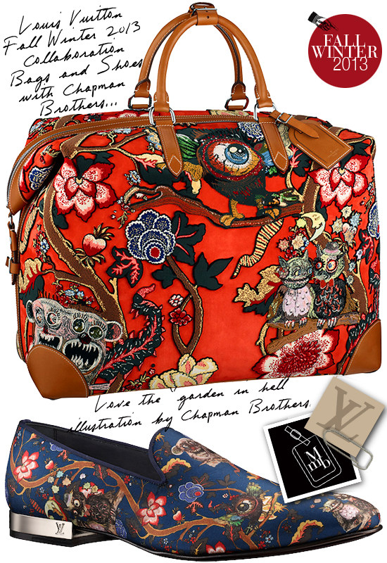 47ff0089ed3 Luxury With An Urban Cool  Louis Vuitton x Chapman Brothers Fall Winter  2013 Mens Bags