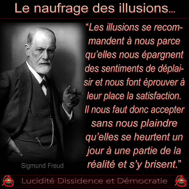 Citaten Freud : La voix est libre soumission consentie et servitude