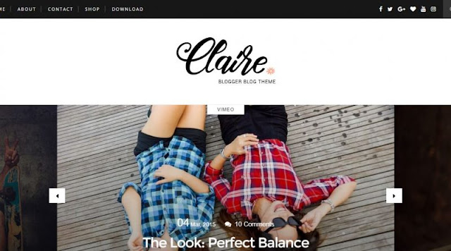 claire-blogger-template