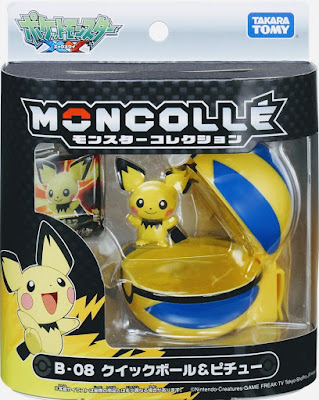 Pichu figure with Quick Ball Takara Tomy Monster Collection MONCOLLE series