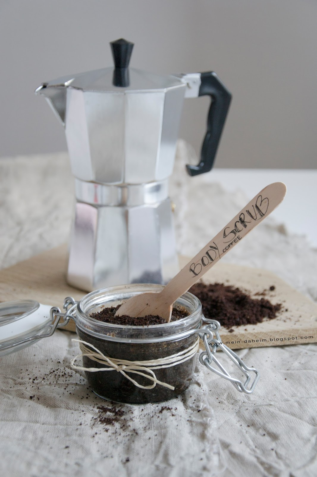 Kaffeesatz Peeling mein daheim diy scrub peeling mit kaffeesatz