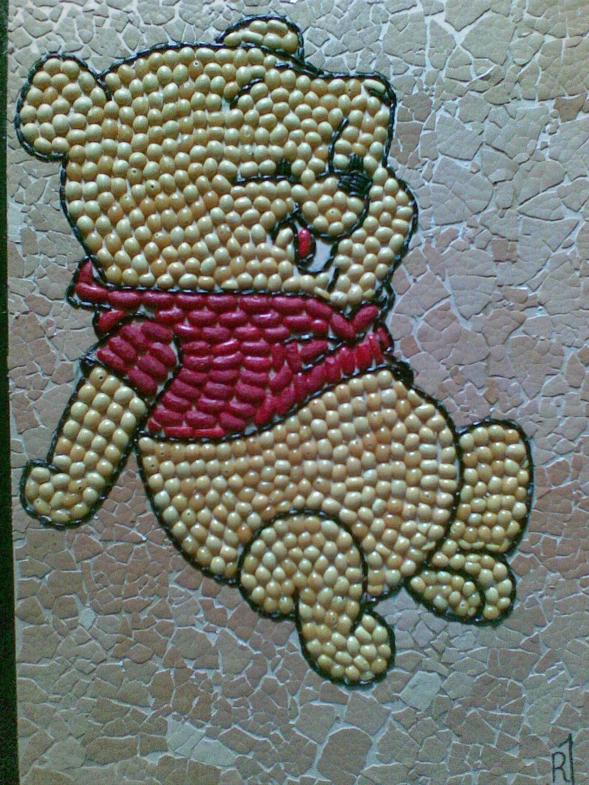 Winnie The Pooh Dari Biji Bijian