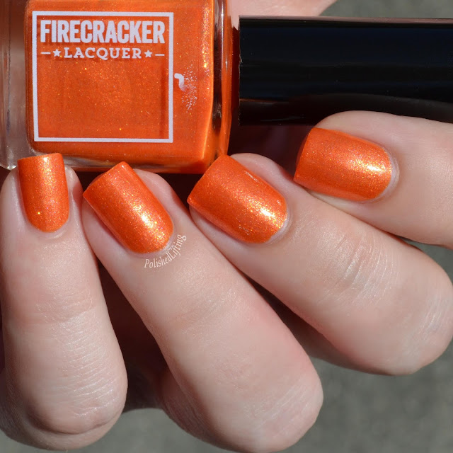 orange flakie nail polish