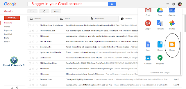 Blogger Gmail