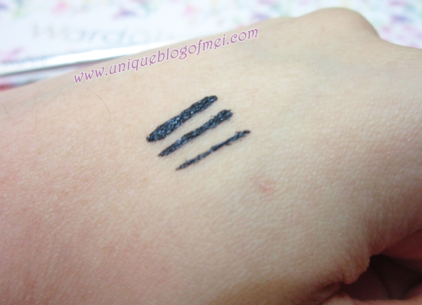 wardah Optimum Hi Black Liner swatches #WardahXClozetteIDReview