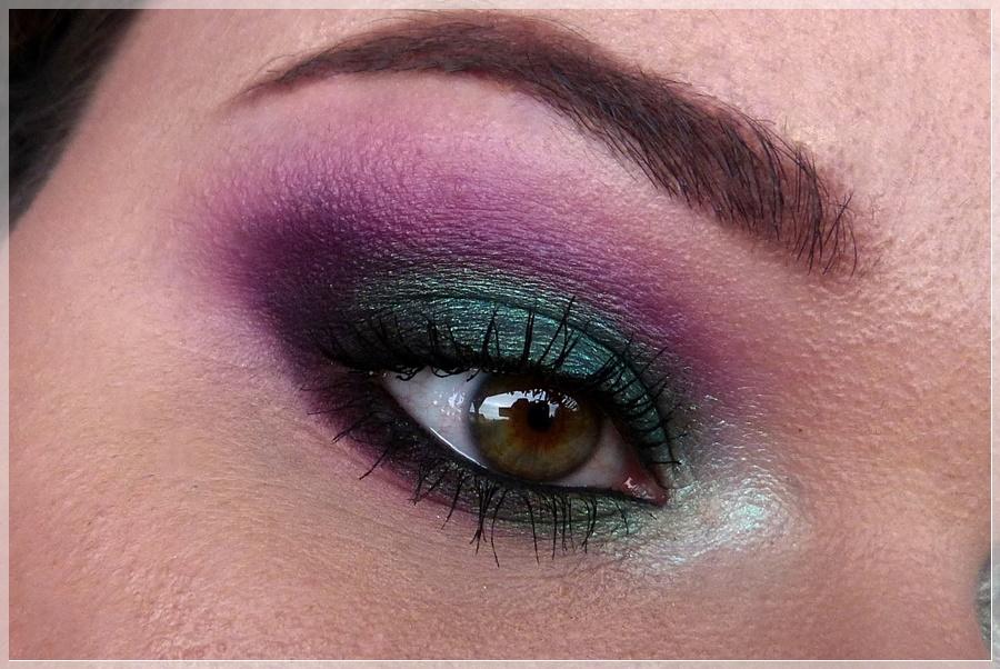 grün violett Augen make-up