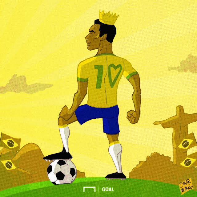 Pele cartoon