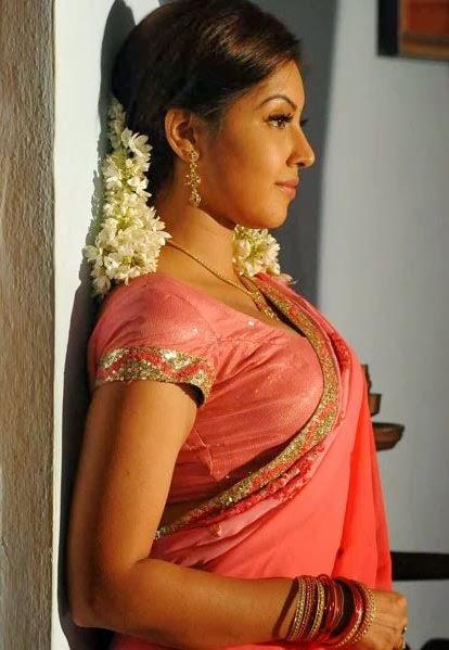 Telugu Actress Komal Jha Latest Hot Sexy Saree Photos -3241