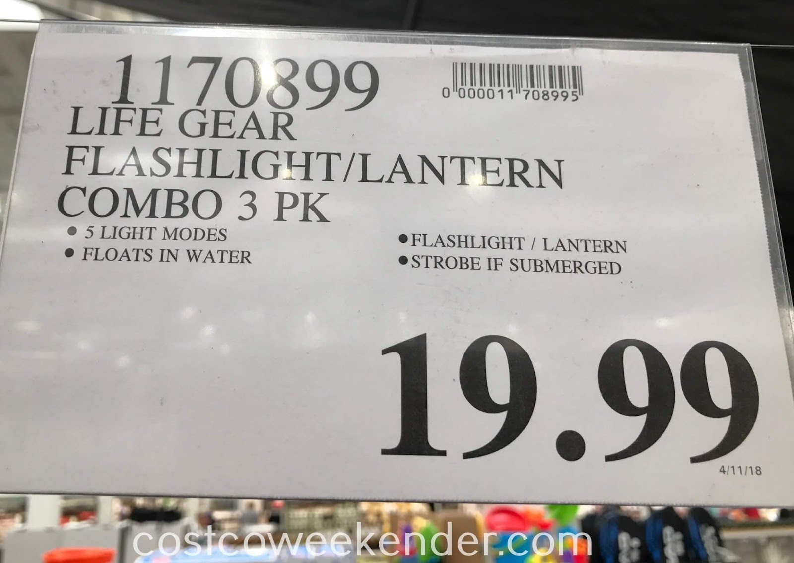 Deal for a 3 pack of Life Gear LED Flashlight and Lantern Combos at Costco