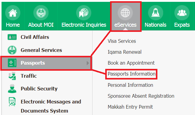 SAUDI IQAMA HELPER: CHECK PASSPORT DETAILS SAUDI ARABIA VIA