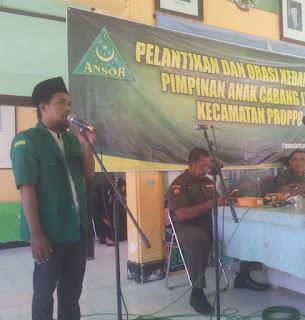 Bentengi NKRI, PAC GP Ansor Proppo Gelar Orasi Kebangsaan
