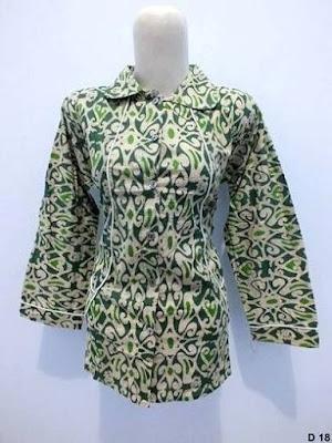model baju batik kerja guru modis