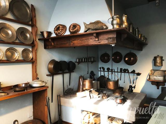 Fembo Haus Museo Ciudad de Nuremberg cocina de cerca