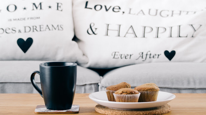 Wallpaper: Muffins and Hot Coffee