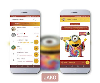 Minnions Theme For YOWhatsApp & Fouad WhatsApp By Jako