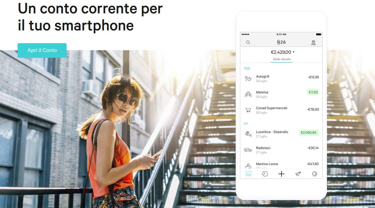 Conto corrente Gratis per smartphone con N26, continua il successo della Banca Virtuale
