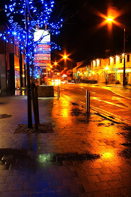 Christmas lights in Moycullen, Galway, Ireland