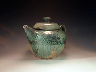 Green Woodfired Tea Pot by Future Relics Pottery