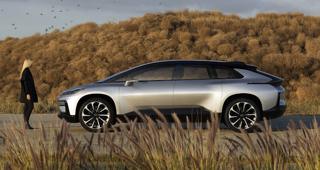 Faraday Future FF 91 side view